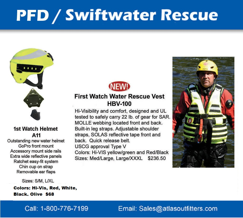 First Watch pfd,water  helmet