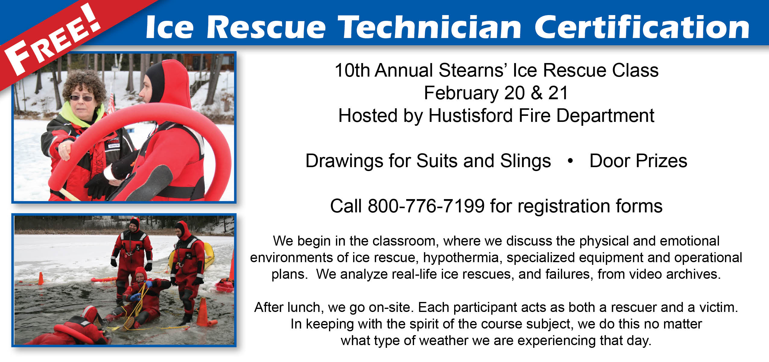 Free Stearns' Ice Rescue Class