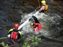 swiftwater strainer practice